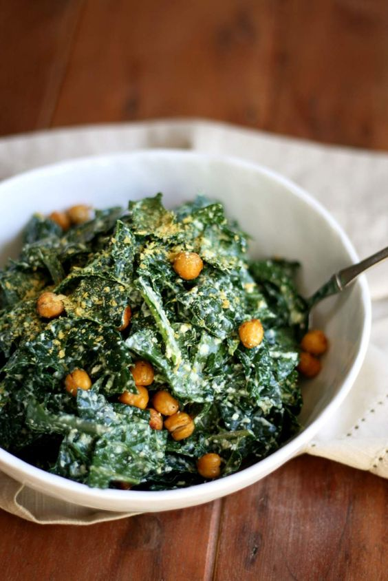 Kale caesar salad, Caesar salad and Kale on Pinterest
