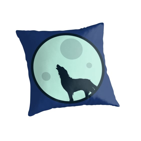 Howl to the Moon Pillow #wolves #wolf #animals #moon #howl