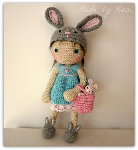 Etsy Amigurumi Patrones : Muneca amigurumi Crochet - lirio de Rusi Dolls Croche ...