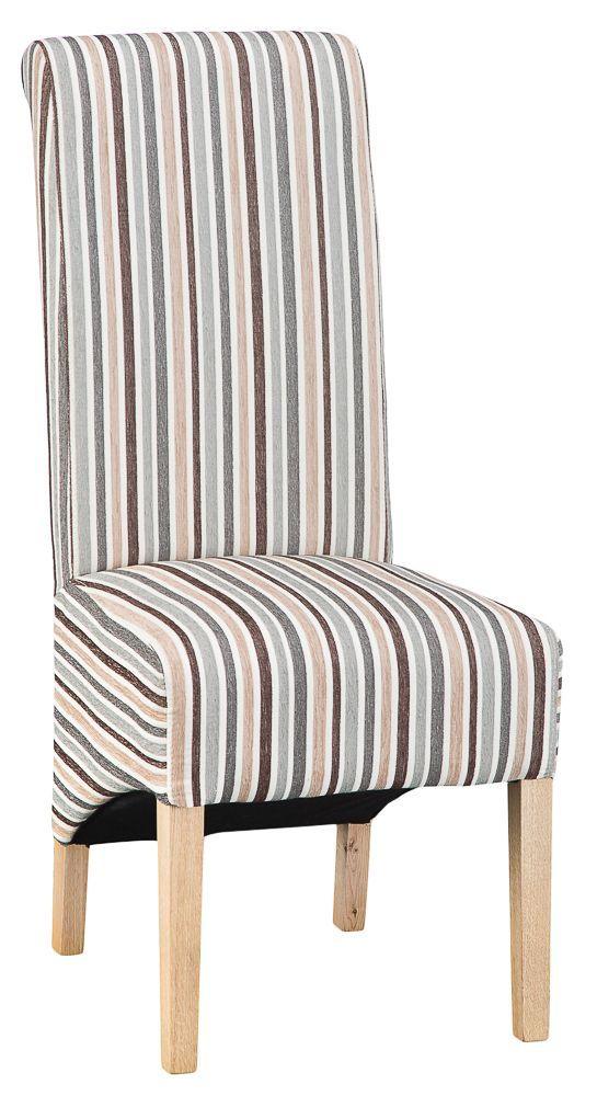 Warwick Duck Egg Blue Stripe Upholstered Dining Chair