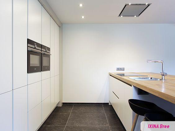 Keukens Ixina Bree : Keukenrealisatie IXINA Bree Cuisine blanche Witte
