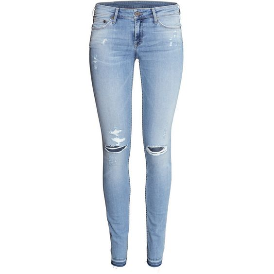 H&M Super Skinny Low Jeans ($46) ❤ liked on Polyvore