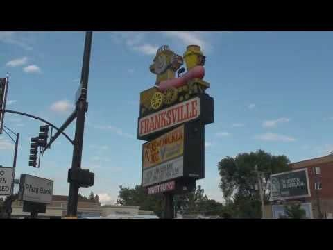 Franksville Hot Dog Shaped Train Sign w/ A Zip of Zep