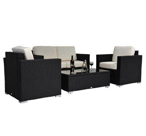 49 75 amazoncom outsunny 4 pc outdoor rattan wicker sofa amazoncom patio furniture