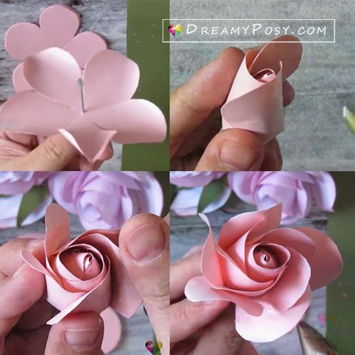 Easy Tutorial To Make A Paper Rose Free Template Paper Roses