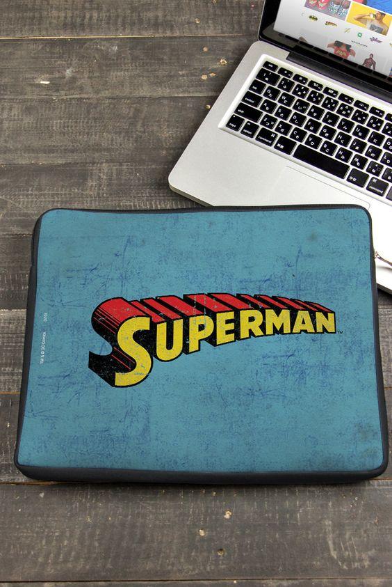 Capa de Notebook Superman Modelo Logo  Clássico
