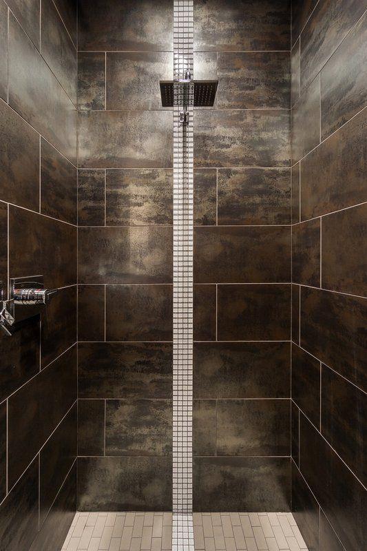 Alchemy 12 X 24 Porcelain Metal Look Field Tile In Copper Matte Tile Floor Floor Tile Design Bathroom Design
