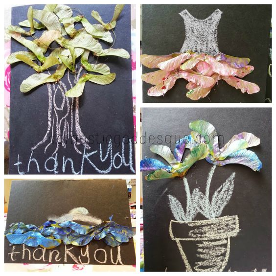 {Craft} Helicopter Seed Thank you Cards for Teachers