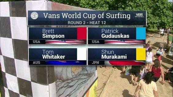 Vans World Cup, Round 2, Heat 12