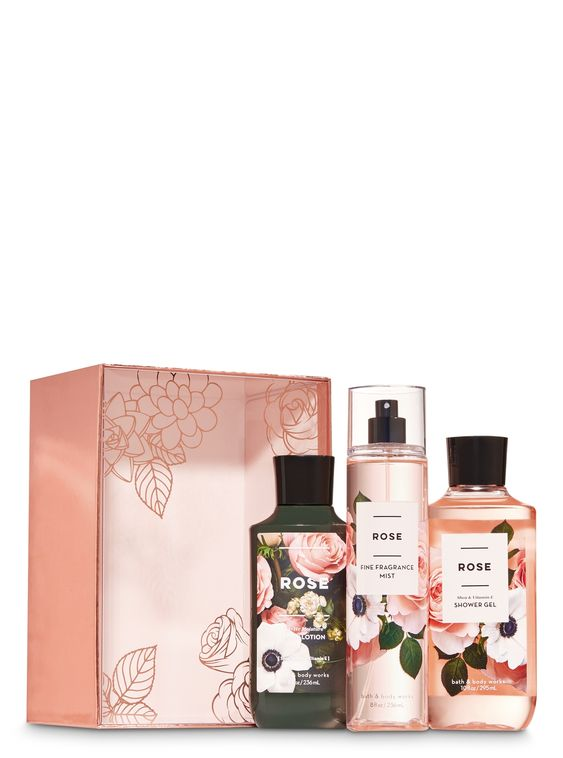 Rose Gift Box Set Bath And Body Works Big Clearancesale 3days Only All 1 99 Bath And Body Works Rose Gift Body Works