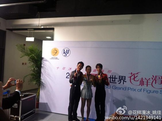With Tatsuki Machida(JAPAN) and  Mao Asada(JAPAN) Medal Ceremony : Cup of China 2012