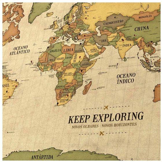 Poster Mapa Mundi Gigante  Modelos de Mapas Mundi  Pinterest