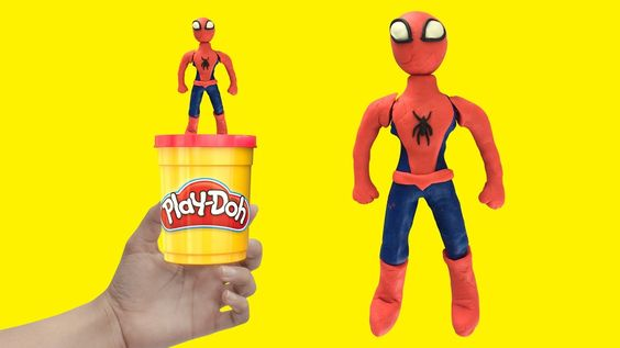 SPIDERMAN Stop Motion Play Doh  How to Make Spider man Cartoon