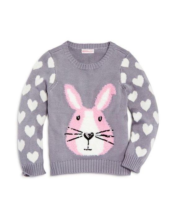 Design History Girls' Bunny Sweater - Sizes 2-6X