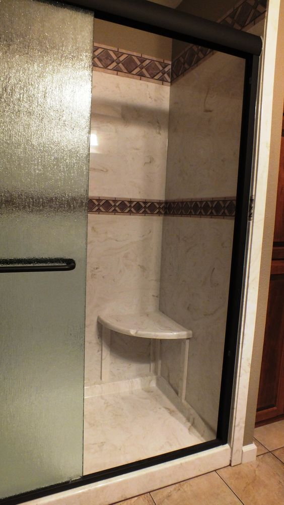 Cultured Marble Tub to Shower Conversion by Marble Masters