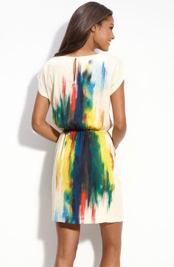 eci print blouson dress