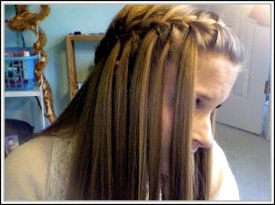 Waterfall Braid best hairstyles 2015 for teen girls