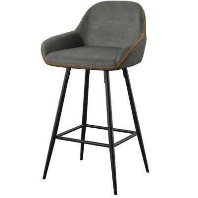 Mercury Row Rylee 26 Bar Stool Upholstery Gray Avec Images