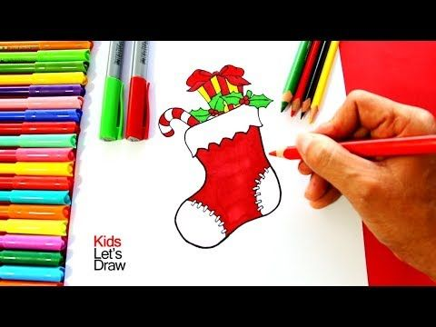 Como Dibujar Un Calcetin Navideno Calcetines Navidad Plantilla De Carta De Navidad Dibujos De Navidad