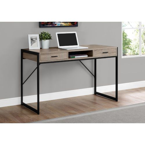 Hawthorne Ave Dark Taupe And Black 22 Inch Computer Desk With Storage Drawers Bellacor Contemporary Computer Desk Home Office Computer Desk Home Office Design Home office desk with storage