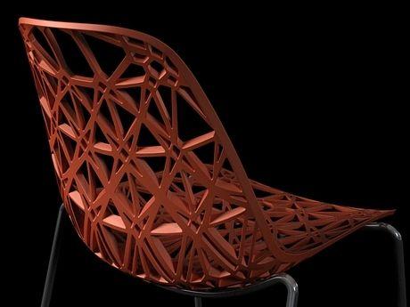 Ton Haas / Silla Nett esqueleto de nylon y fibra de vidrio (coral)