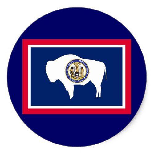 Wyoming State Flag Classic Round Sticker Zazzle Com With Images Wyoming State State Flags Wyoming