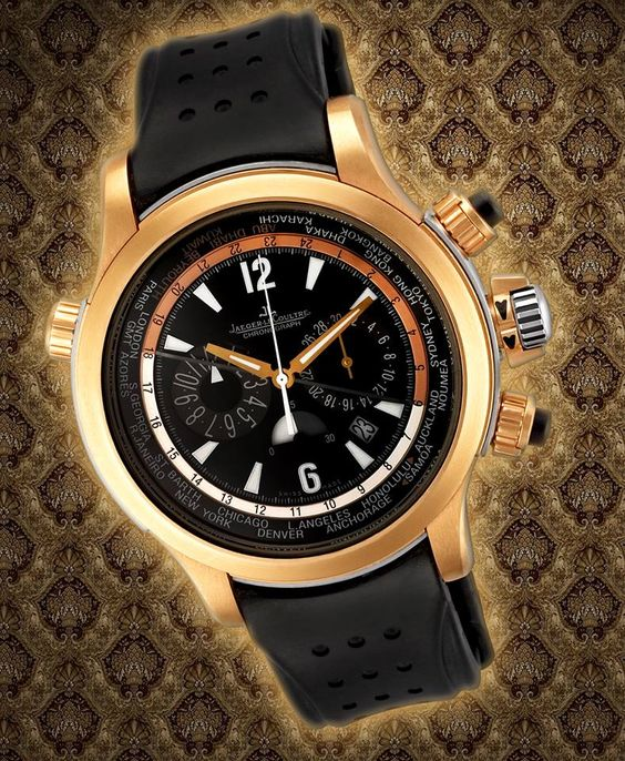 Limited to only 70 pieces, this Jaeger LeCoultre Master Compressor Extreme World Chrono in 18k rose gold & titanium is sure to make an impact on your watch collection!