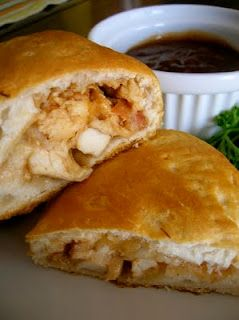 bbq chicken calzones with bacon