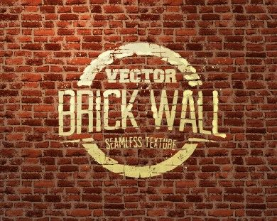 vintage brick wall vector background art