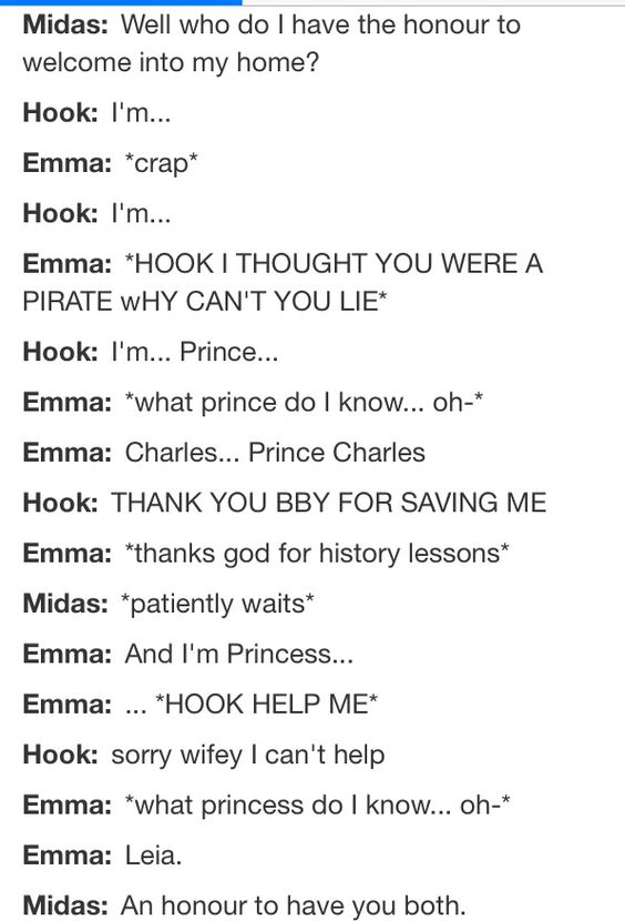 I love how hook is just like, you are mine and I shall call you wifey and I will love you forever and ever and ever!