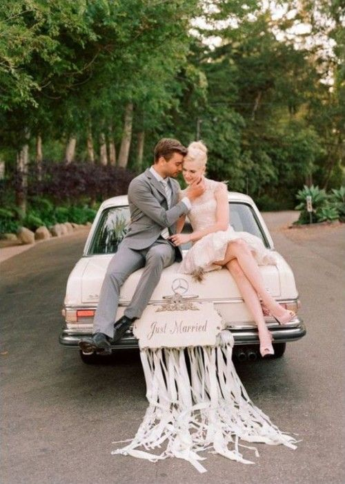 35 Cool And Creative Wedding Getaway Car Decor Ideas Weddingomania Sweet Cly I