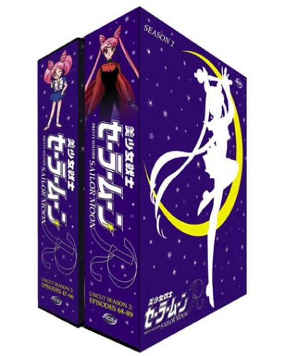 Official North American Sailor Moon R / Season Two DVD Box Set. Information and shopping links here http://www.moonkitty.net/reviews_sailormoonrdvds.php