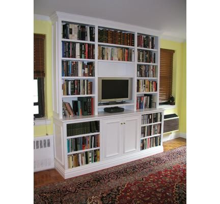 idea for upstairs, with tiered glass bottom cabinet? | Bookshelf Project  Ideas | Pinterest | TVs, Living rooms and