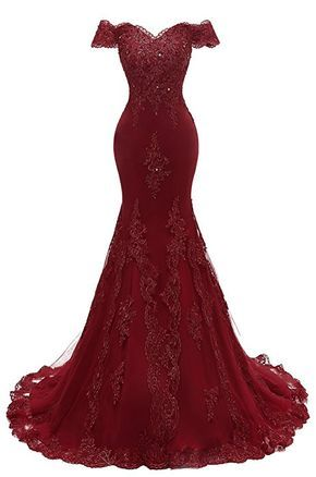Amazoncom Himoda Womens V Neckline Beaded Evening Gowns
