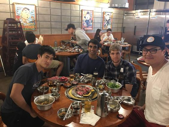 The post build crew went out for some Korean BBQ in Koreatown #startuplife