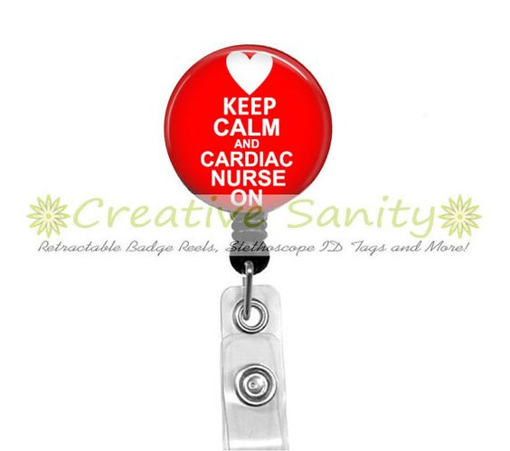 Nurse Retractable ID Badge Reel Keep Calm and by CreativeSanity, $7.50