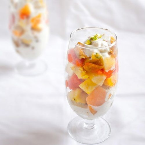 vegan fruit salad with cashew cream, how to make vegan fruit cream | Fruit  cream, Cashew cream, Sweets recipes