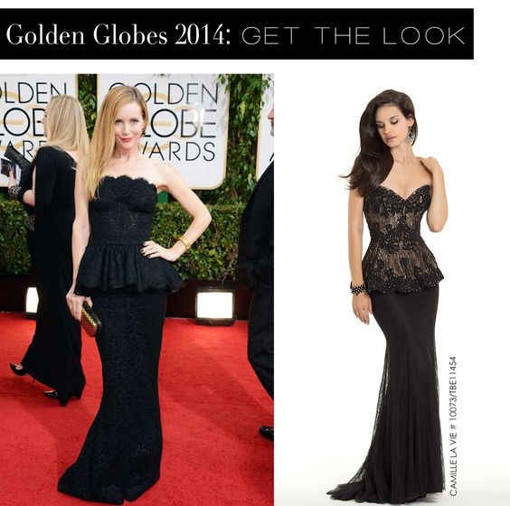 Leslie Mann at the Golden Globes 2014 and the Camille La Vie dress version for less