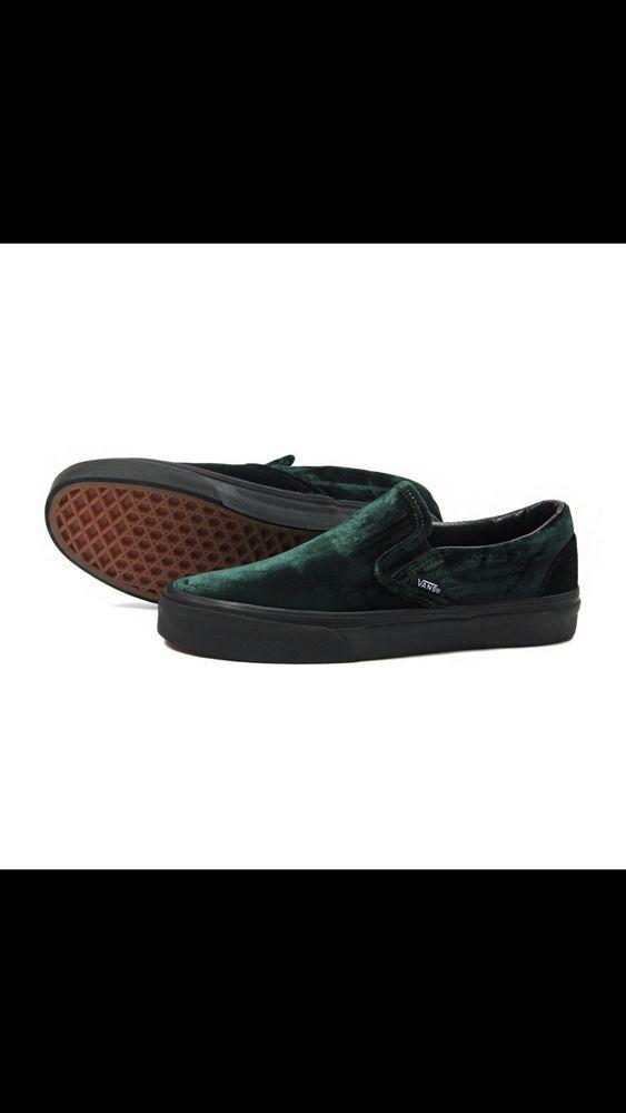 Vans Classic Slip On (Velvet) Green