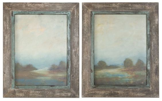 Fancy Wall Art Prints Accented By Oxidized Silver Frames Frame'S Decor 51076   Furniture, home decor, wall decor, rugs, lamps, lighting outlet.