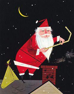 Santa's Dilemma, art by Charley Harper, 1953.