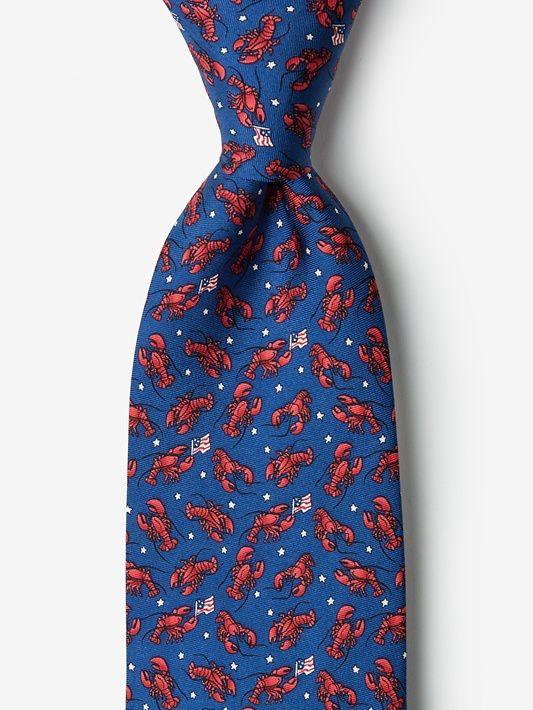 Crustacean Nation Silk Tie