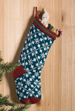 Scandanavian Christmas Stocking Knitting Pattern Knit ...