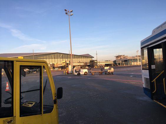 Вид от самолета перед посадкой