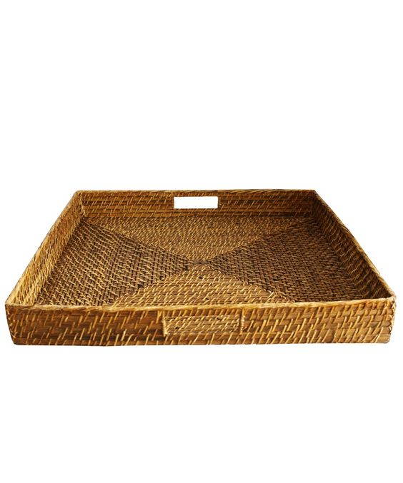 Extra Large Square Woven Serving Tray
