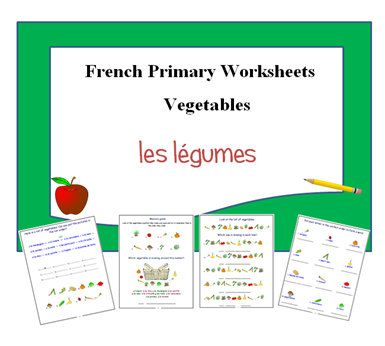vegetables french worksheets primary resources ks1 ks2 learn the names of vegetables in french. Black Bedroom Furniture Sets. Home Design Ideas