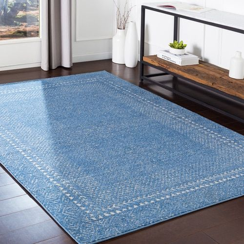 Consett Conse With Colors Bright Blue Bright Blue Beige Taupe Machine Woven 60 Polypropylene 40 Polyester Transitional Made In 2020 Area Rugs Beige Area Rugs Rugs