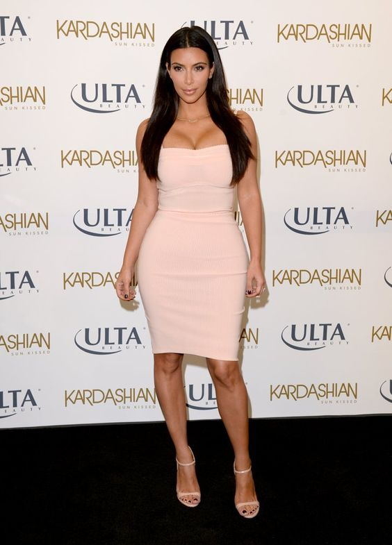 Pin for Later: Can't-Miss Celebrity Pics!  Kim Kardashian promoted her latest business venture on Wednesday in LA.