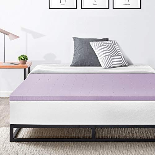9trading 1 5 Lavender Infused Cooling Memory Foam Bed Topper Queen Lavender Memory Foam Bed Topper Firm Mattress Topper Memory Foam Beds