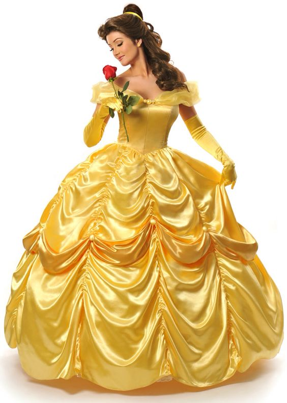My 2nd Bridesmaid in the line is Belle in her golden ball gown!